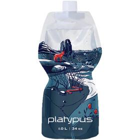 Platypus SoftBottle Closure Cap 1l, transparant/blauw